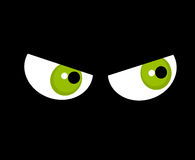 Occhi nella nerezza illustrazione di stock