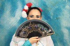 Occhi profondi del Latino Fotografia Stock