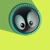 Occhi spianti comici Vettore dei bulbi oculari Fissare - Fotografia Stock