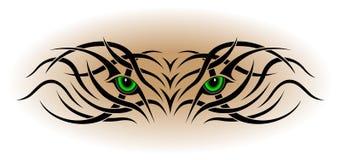 Occhi, tatuaggio tribale Immagini Stock