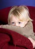 Occhi timidi Fotografia Stock