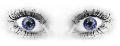 Occhi umani Fotografie Stock Libere da Diritti