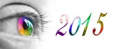 2015 occhi variopinti dell'arcobaleno Fotografie Stock