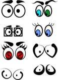 Occhi verniciati Fotografia Stock Libera da Diritti