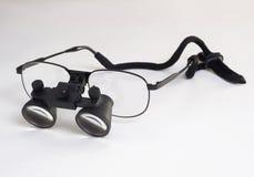 Occhiali d'ingrandimento chirurgici Fotografie Stock