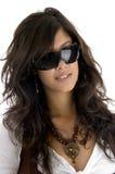 Occhiali da portare di modello alla moda Fotografia Stock