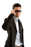 occhiali da sole da portare dell'uomo d'affari Fotografie Stock