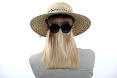 Occhiali da sole da portare della donna fotografia stock