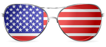 Occhiali da sole degli S.U.A. Fotografia Stock Libera da Diritti