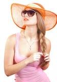 occhiali da sole della ragazza fotografia stock libera da diritti
