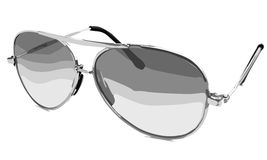 Occhiali da sole di Ilustrated isolati su un fondo bianco Fotografia Stock Libera da Diritti