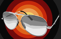 Occhiali da sole illustrati Fotografie Stock