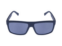 Occhiali da sole moderni di modo su fondo bianco Fotografia Stock Libera da Diritti