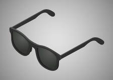 Occhiali da sole neri isometrici Fotografia Stock