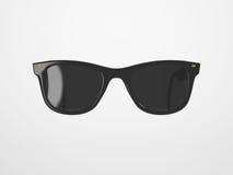 Occhiali da sole neri su fondo luminoso Fotografia Stock Libera da Diritti