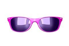 Occhiali da sole rosa di fascino Fotografia Stock