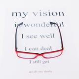 Occhiali della lettura e grafico di occhio Fotografie Stock