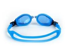 Occhiali di protezione bagnati di nuoto Fotografia Stock