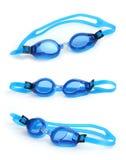 Occhiali di protezione bagnati di nuoto Fotografie Stock Libere da Diritti