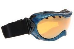 Occhiali di protezione blu freddi del pattino fotografia stock libera da diritti