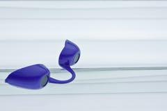 Occhiali di protezione d'abbronzatura viola Fotografia Stock