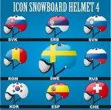 Occhiali di protezione dell'icona con la bandiera del mondo Immagini Stock Libere da Diritti