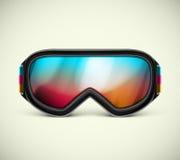 Occhiali di protezione dello sci Immagine Stock