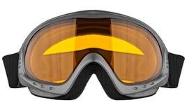Occhiali di protezione dello sci isolati sui precedenti bianchi Fotografie Stock