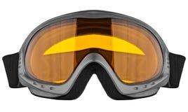 Occhiali di protezione dello sci isolati sui precedenti bianchi Fotografia Stock Libera da Diritti