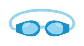 Occhiali di protezione dello stagno che nuotano l'illustrazione di vettore isolata attrezzatura illustrazione di stock