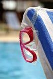 Occhiali di protezione di immersione subacquea Fotografia Stock