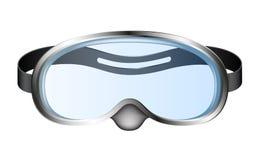Occhiali di protezione di immersione subacquea (mascherina di immersione subacquea) Immagine Stock Libera da Diritti