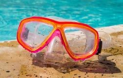 Occhiali di protezione di nuotata Immagini Stock Libere da Diritti