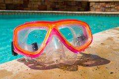Occhiali di protezione di nuotata Immagine Stock
