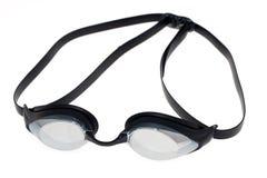 Occhiali di protezione di nuotata della concorrenza Fotografia Stock
