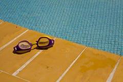 Occhiali di protezione di nuoto Immagine Stock Libera da Diritti
