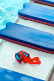 Occhiali di protezione di nuoto Immagini Stock Libere da Diritti