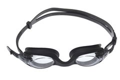 Occhiali di protezione di nuoto isolati su bianco Immagine Stock Libera da Diritti