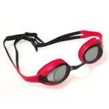 Occhiali di protezione di nuoto isolati su priorità bassa bianca Immagine Stock Libera da Diritti