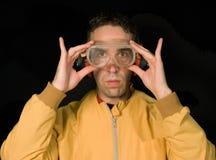 Occhiali di protezione di sicurezza Immagini Stock