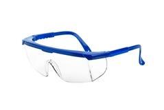 Occhiali di protezione di sicurezza di plastica Fotografie Stock