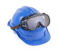 Occhiali di protezione e del casco Immagine Stock