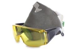 Occhiali di protezione e respiratori Fotografie Stock Libere da Diritti