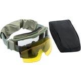 Occhiali di protezione, fondo bianco fotografia stock libera da diritti