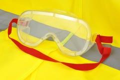 Occhiali di protezione industriali Fotografia Stock