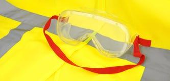 Occhiali di protezione industriali Immagini Stock Libere da Diritti