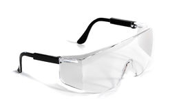 Occhiali di protezione isolati Fotografia Stock Libera da Diritti