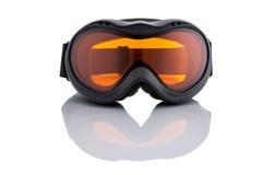 Occhiali di protezione nuovissimi dello sci isolati su fondo bianco Fotografia Stock Libera da Diritti