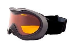 Occhiali di protezione nuovissimi dello sci isolati su fondo bianco Immagine Stock Libera da Diritti