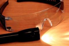 Occhiali di protezione, occhiali di protezione Fotografie Stock Libere da Diritti